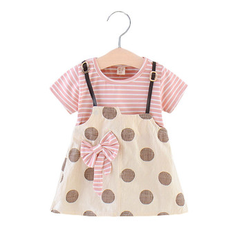 Baby Girl Clothes Summer Cotton Baby Dresses for Girl Short Sleeve 1st Birthday Dress for Baby Girl Bow Party Birthday Dresses vlinder baby girl dress baby clothes baby dresses girl summer han chinese costume short sleeves birthday dress 12m 5t girl dress