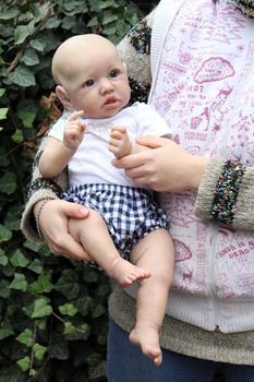 NPK 55CM silicone saskia newborn baby reborn doll lifelike detailed hand painting real soft touch