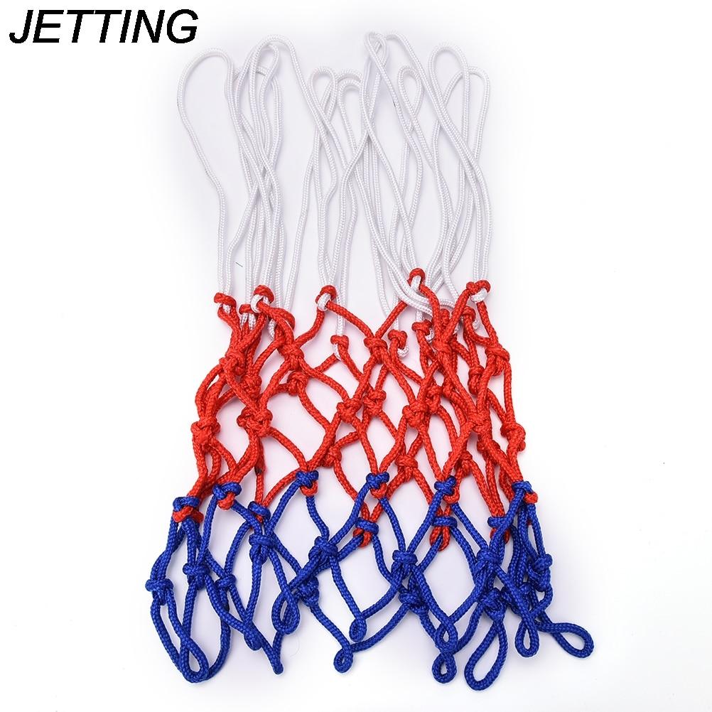 Лидер продаж, нейлоновая нить, спортивная баскетбольная обруч, сетка, 1 шт., стандартная баскетбольная оправа, мяч