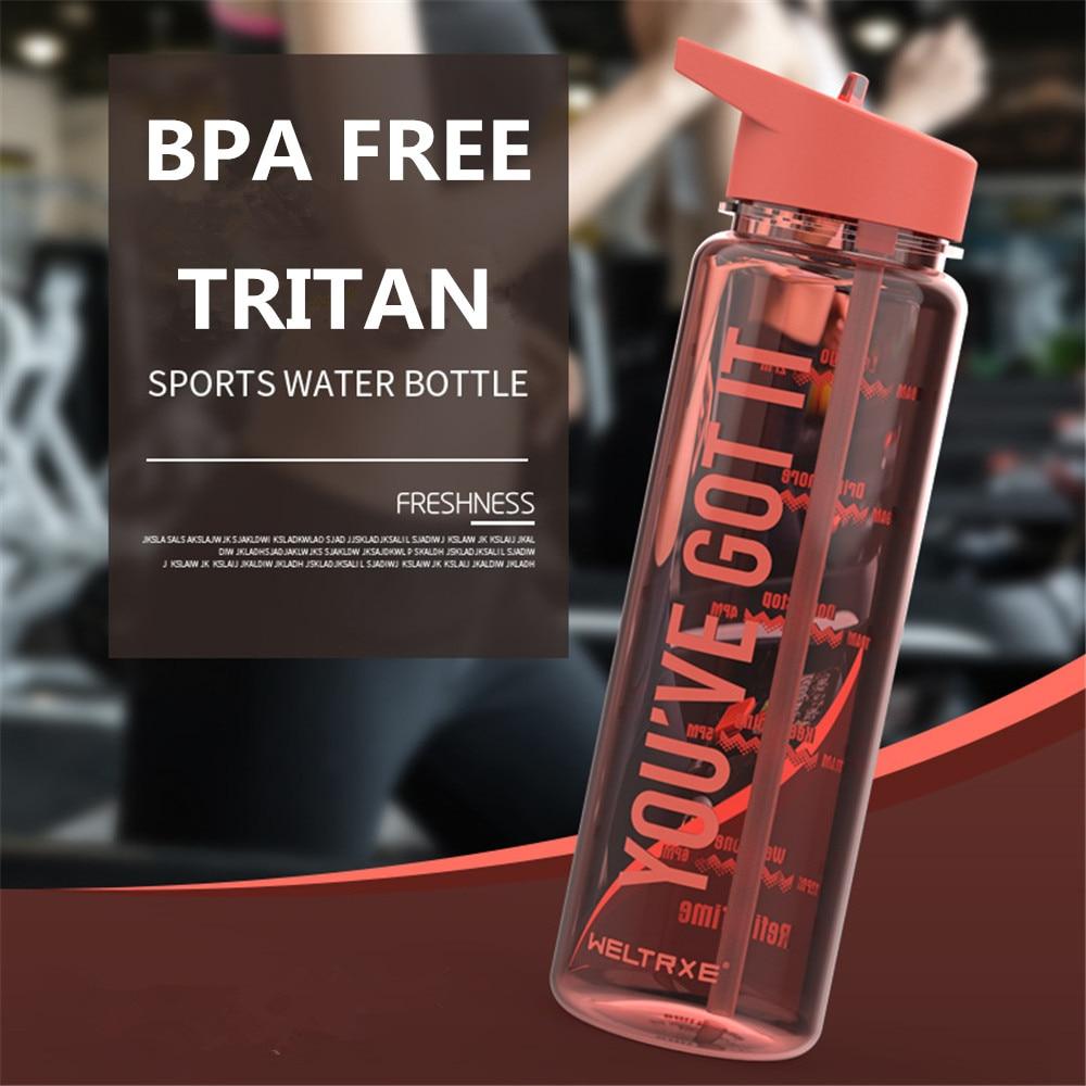 Bpa-Free 750ml100%Tritan Sports My Straw Water Bottle With Flamingos Printing My Drink Juice Handle Bottle The Unicorn Kettle