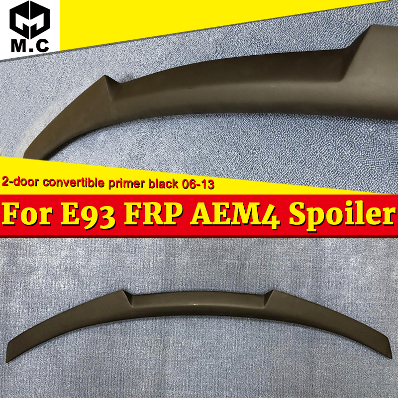 For BMW E93 Spoiler rear trunk wings M4 Style FRP Unpainted M3 2 Coupe Convertible 320i 330i 328i 2006-13