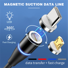 Type-C Micro USB Fast Charging Cable Magnetic USB Pins Data Sync Cord 1M magnetic charging cable micro usb For Huawei Mate