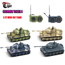 Envío Gratis 2021 nuevo RC tanque Alemania Tigre colorido 1:72 vivo alta simulado gran tanques de juguetes 2117 mini juguete de Control remoto