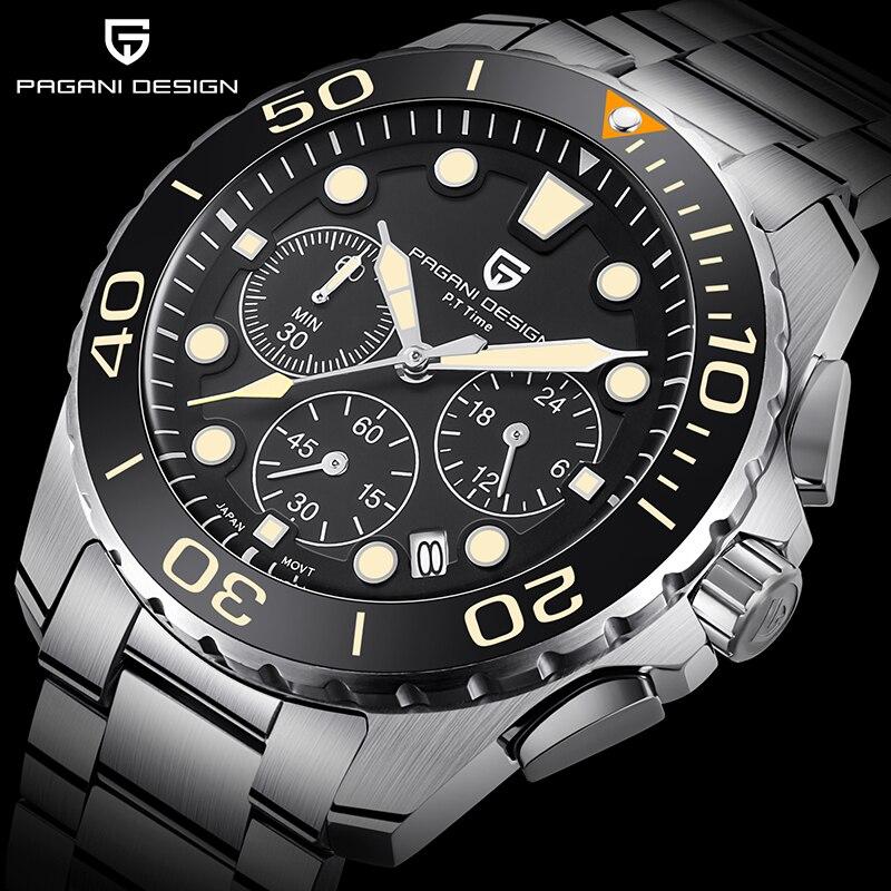 PAGANI DESIGN Business Men's Watches Quartz Multifunction Wrist Watch Mens Top Brand Luxury Sport Clock Male Fashion Chronograph