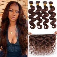 Hair-Bundles Brown Body-Wave 4-Remy Brazilian