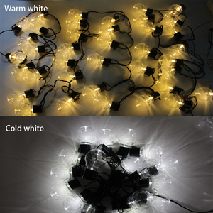 Image 3 - Уличная светодиодная гирлянда с круглыми лампочками, Рождественский шнурок с прозрачными лампочками для украшения свадьбы, вечеринки, сказосветильник ильник для дома, сада, патио, 10 м
