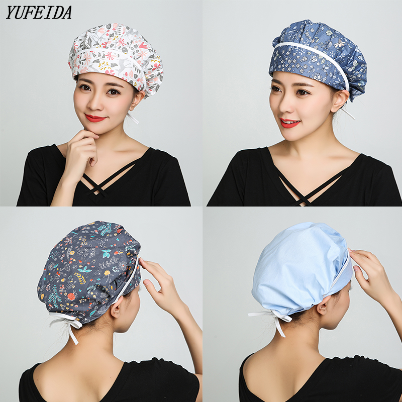 High Quality Medical Work Caps Pet Hospital Operating Room Hat Surgical Cap For Long Hair Doctor Surgery Caps Nursing Scrubs Cap