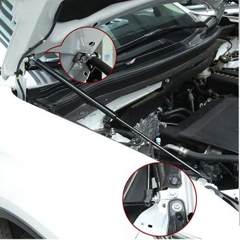 Dla Mitsubishi Outlander 2013-2018 2017 samochodów Auto remont przednia maska okapy pokrywa silnika pręt hydrauliczny Strut Spring Shock Bar 2 sztuk tanie i dobre opinie stainless steel Bagażniki dachowe i pudełka Hydraulic Hoods Strut 8cminch 63cminch