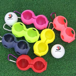 1Pc Golf Ball Protective Cover Soft Silicone Waist Holder Sleeve Storage Bag Keyring Golfing Accessories For 2 Balls Tools