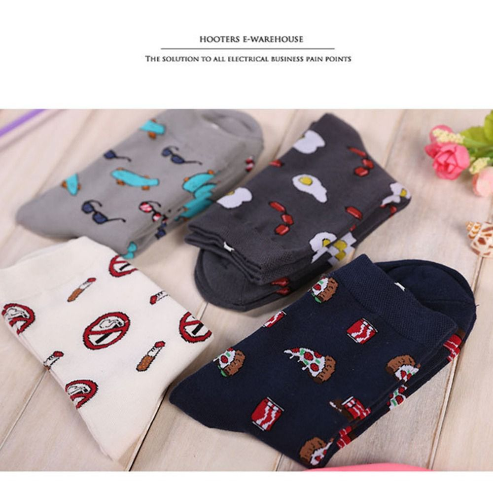 2019 New Men's Hip Hop Personality Cartoon Dress Socks Man Short Socks Winter Men Women Tube Sock Funny Gifts For Friends