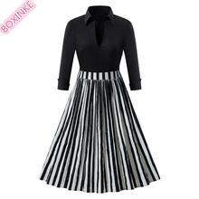 Zanzea Vestidos Mujer Black-and-white Striped Lapel Cotton Long-sleeved Womens Dress In Autumn And Fashion Europe America 2019