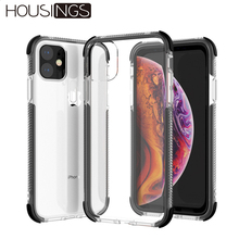 For iPhone 11 Pro Case Airbag Bumper Cover Max Shockproof Coque Soft Funda Iphone Transparent Shell