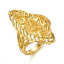 Изысканное Золотое кольцо с цветком из 24 каратного золота свадебные