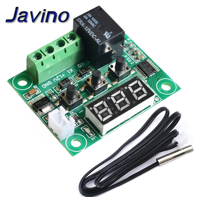 XH W1209 DC 12V Heat Cool Temp Thermostat Temperature Control Switch Temperature Controller Thermometer Thermo Controller