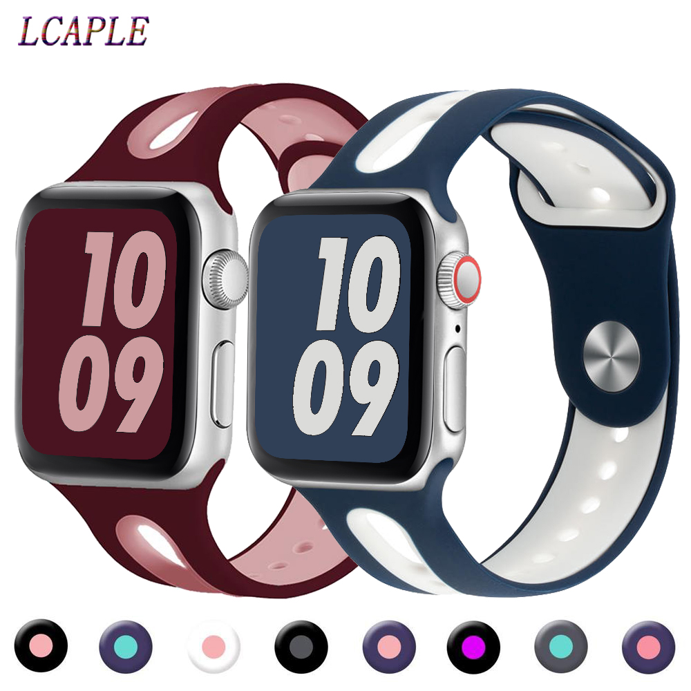 Strap For Apple Watch 5 4 Band 44mm Iwatch Band 42mm 40mm Silicone Correa 38 Mm Pulseira Apple Watch 5 4 3 Bracelet Watchband 44