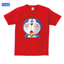 Doraemon t shirts 2020 Summer Cartoon Cat Boys Girls Short Sleeve Girls Tshirt Funny T Shirt children Teen tees Casual  White цена и фото