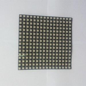 Image 5 - 1 قطعة 16x16 بكسل WS2812B أنبوب تدفِئة LED رقاقة الرقمية بشكل فردي عنونة led وحدة لوحة مرنة لتقوم بها بنفسك عرض المجلس DC5V