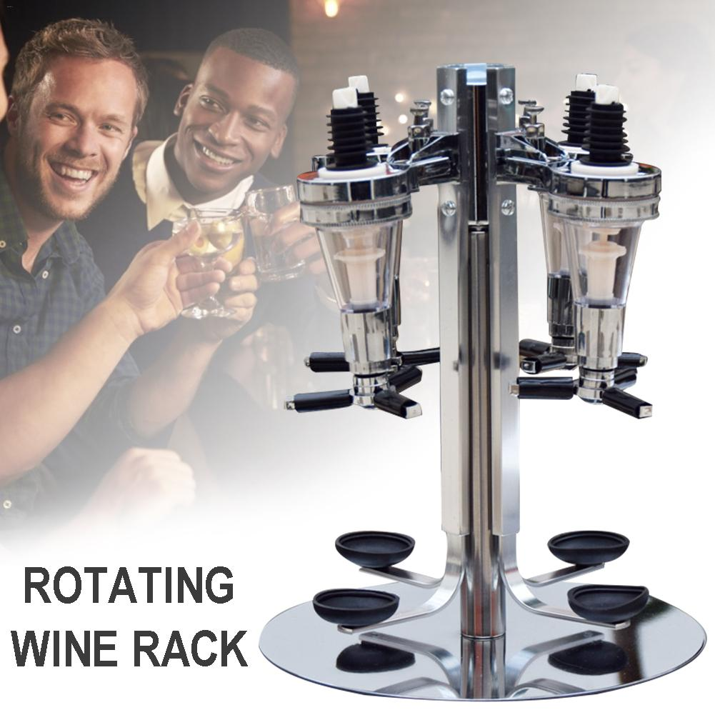 Rotated Mounted 4-station Liquor Wine Dispenser Machine Bar Butler Drinking Pourer Home Bar Tools For Beer Soda Coke Fizzy Soda