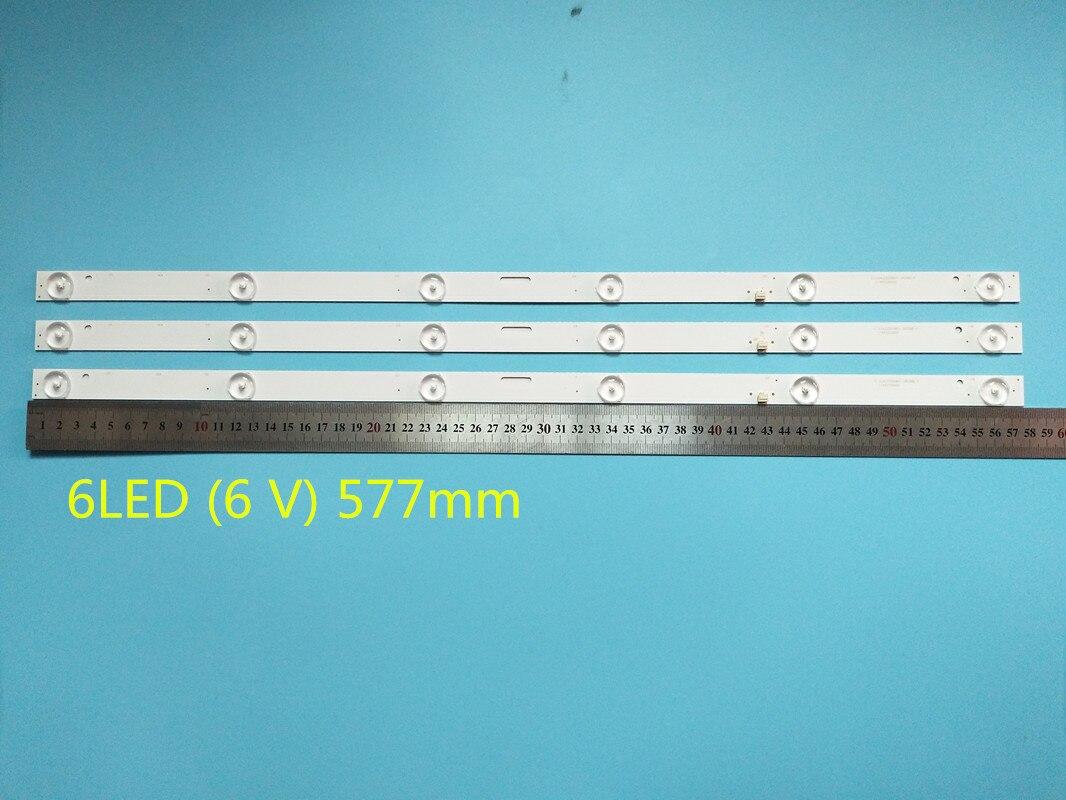 Nova 3 Pçs/lote 6LED (6 V) 577 MILÍMETROS Tira Conduzida Luz De Fundo Para LE-8822A SJHLD3200601 SJ.HL.D3200601-2835BS-F 1.14FD3