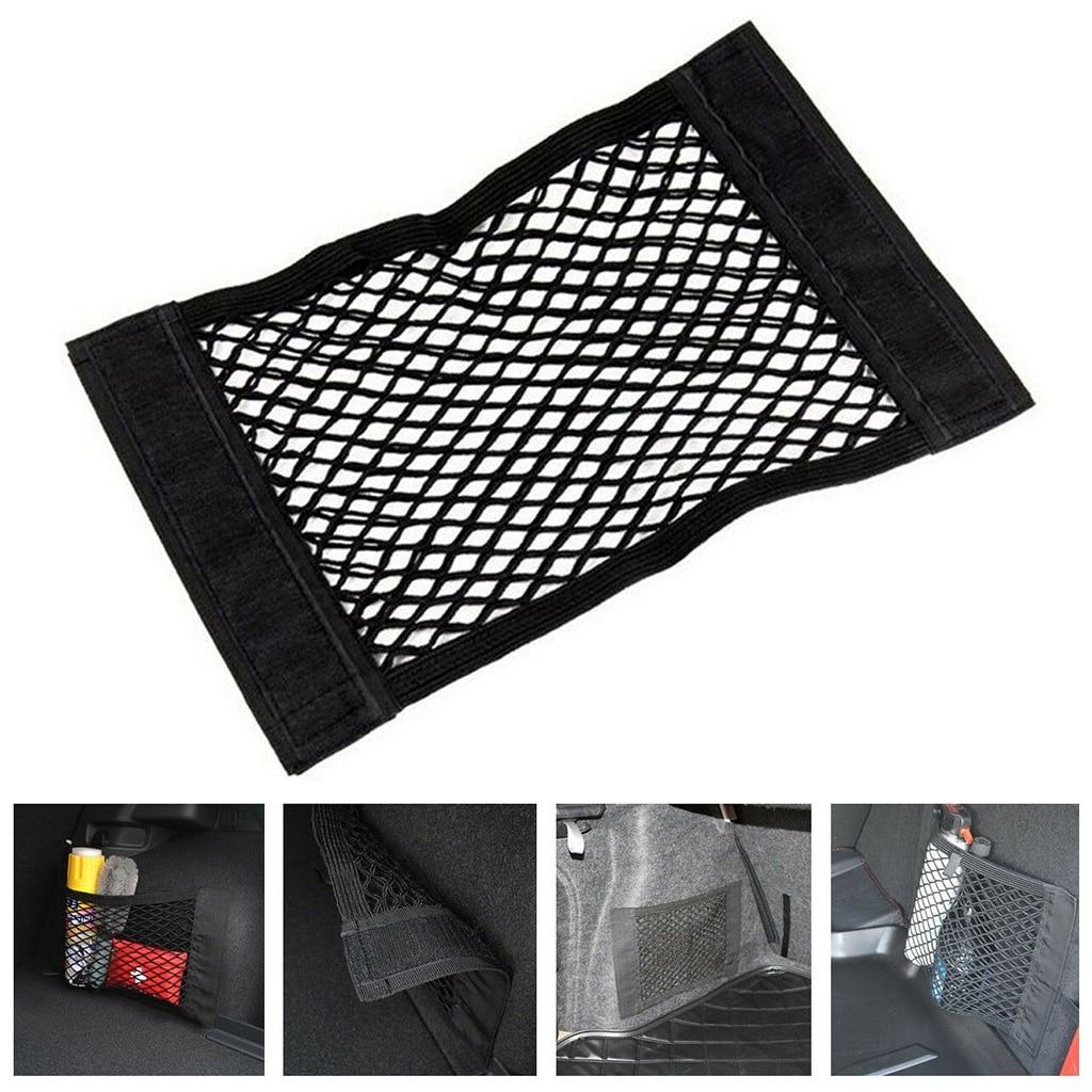 Bag Mesh-Net Truck Cargo-Organizer Pocket Vehicle for SUV Van Snacks Tissues Black