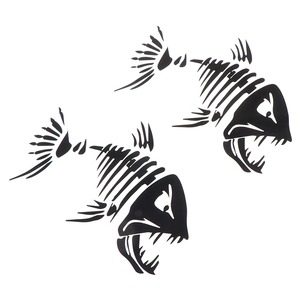 2 Pcs Fish Teeth Mouth Sticker
