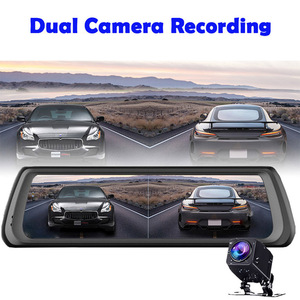 Image 5 - WHEXUNE 4G Видеорегистраторы для автомобилей с сенсорным экраном на Android ADAS Даш Cam Автомобильная камера заднего вида зеркало 10 дюймов тире Камера Двойной объектив GPS навигации рекордер Wifi