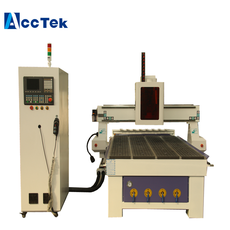 9.0kw Air Cooling Spindle Atc Cnc Router Machine AKM1325 For Wood Working With 5.5 Kw Water Vacuum Pump