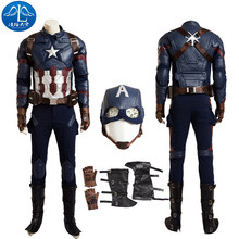 2017 Cosplay Costume Captain America 3 Civil War Roleplay Men's Jacket Cosplay Full Suit Free Shipping Custom Made