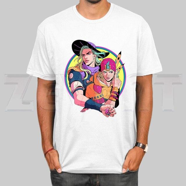 Jojo Bizarre Adventure Stone Ocean Stell Ball Run Lion T Shirts Fashion Men and Women Tops T-shirt Short Sleeve Unisex Tshirt 1