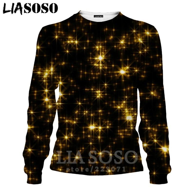 LIASOSO 3D Print Gold Sweatshirt Autumn Long Sleeve Glow Diamond Men`s Shirt Anime Women Fashion Tops O Neck Men Clothing D017-7 (7)
