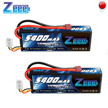 Zeee 5400mAh 80C 2S 7.4V Lipo Battery Hardcase with Deans Plug 2units RC Lipo Battery for RC Car Boat Truck Helicopter цена