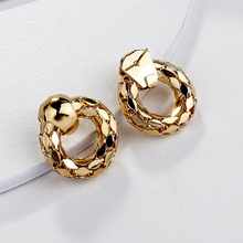 AMORCOME Classic Alloy Metal Round Drop Earrings Geometric Hollow Pipe Circle Earrings for Women Girl Wedding Party  Jewelry amorcome chic hollow alloy leaves dangle earrings for women gold metal leaves geometric long big drop earrings fashion jewelry