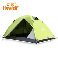Hewolf 2 Person Tents Camping Tents Double Layer Waterproof Windproof Outdoor Tent For Hiking Fishing Hunting Beach Family Tent