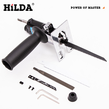 HILDA Reciprocating Saw Power Tool Reciprocating Saw Metal Cutting Wood Cutting Tool Electric Drill Attachment With Blades