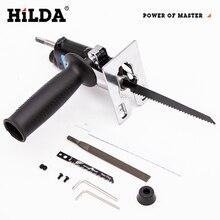 HILDA Sierra eléctrica de vaivén, herramienta de vaivén para corte de Metal, herramienta de corte de madera, accesorio de taladro eléctrico con cuchillas