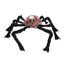 Halloween Simulation Spider Toys Decoration Plush Spiders Haunted House Props Festival Jokes Toy Halloween Party Supplies цена и фото