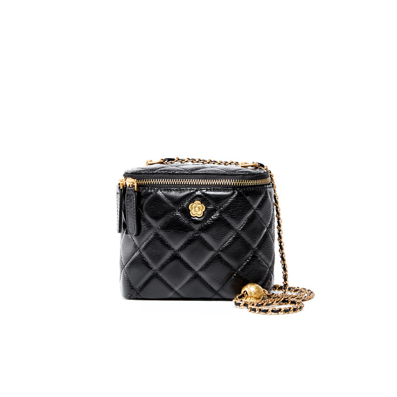 Buckle Shape Cowhide Genuine Leather Bag