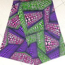6 yards Ankara Wax Fabric African Print 100% Cotton Wedding Dress High Quality Diy Sewing Accessories(China)