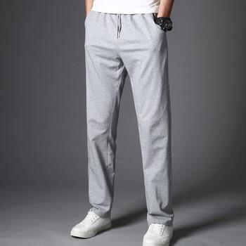 Men Autumn Summer Sports Gym Loose Pants Pockets Training Elasticity Waist Legging Jogging Runing Trousers