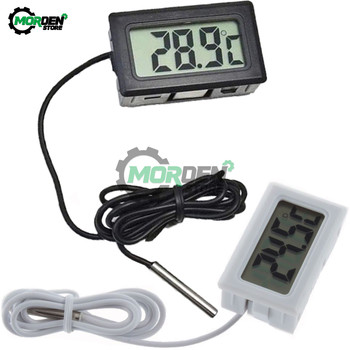 Black/White 1/3/5m LCD Digital Thermometer Car Fridge Freezer Aquarium Temperature Detector Monitor Tester Sensor Prober цена 2017