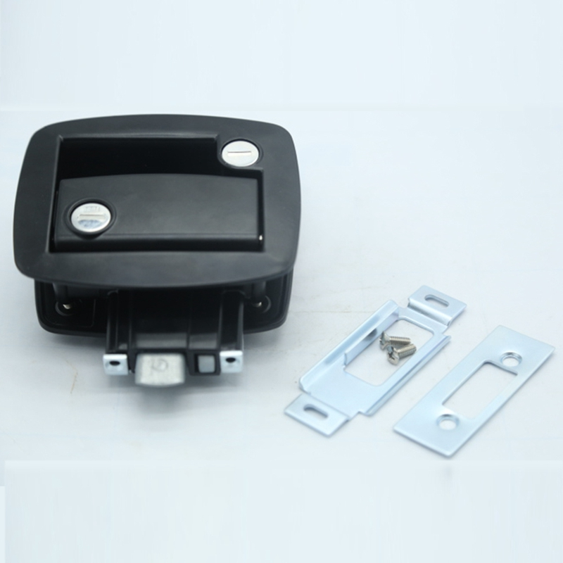New Black RV Paddle Entry Door Lock-11