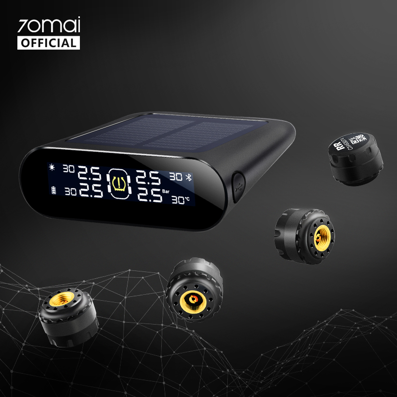 70mai Tire Pressure Monitor System Lite Smart Car TPMS Solar Power APP Control Auto Security Alarm Systems Tyre Pressure Warning(China)