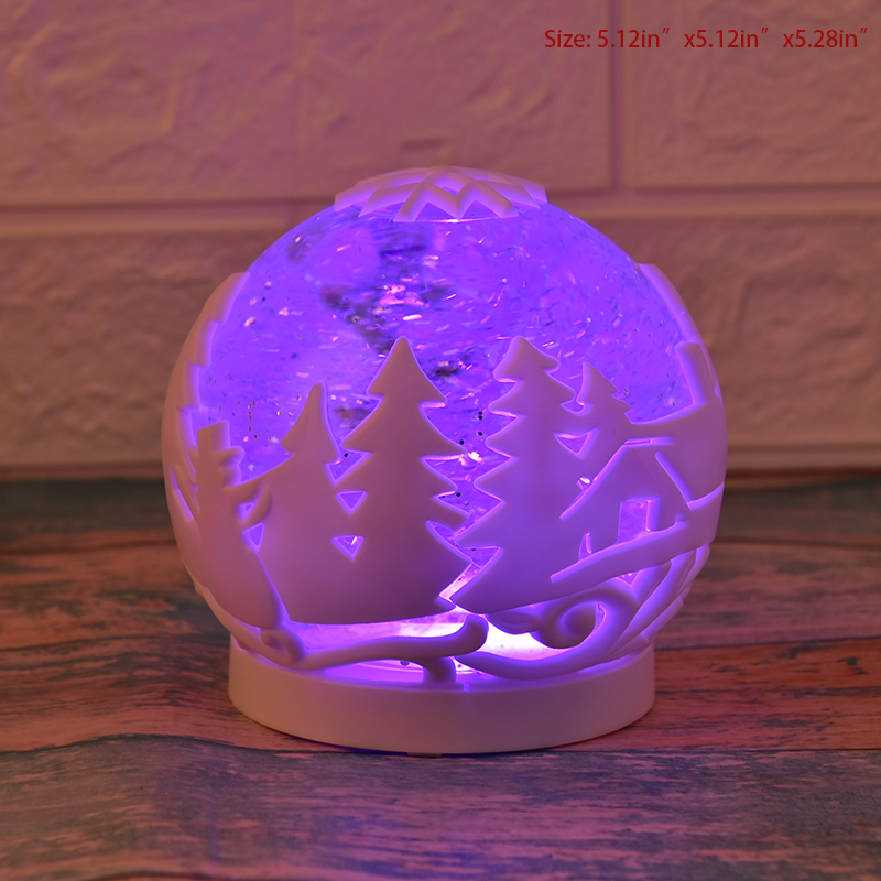 Crystal Ball Christmas Ornaments Led Color Changing Lights Night Lamp Snow Christmas Tree Atmosphere Light Birthday Gifts in LED Night Lights from Lights Lighting