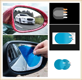 2PCS Car SUV Rearview Mirror Protective Film Rainproof Sticker for BMW M8 M550i M550d M4 M3 E92 E38 E91 E53 E70 X5 M M3 image