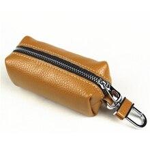 Leather Male Key Holder Organizer Housekeeper Women Keychain Purse Key Ring Bag Keys Case Pouch Car Keys Wallets