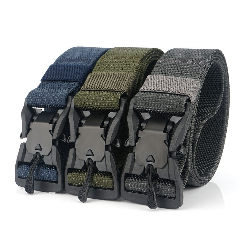 Men Belt Training-Belt Magnetic-Buckle Nylon Causal for Man BT04 Adjustable title=