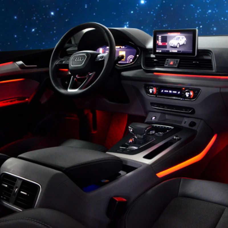 For Audi A3 A4L A6L A5 Q2L Q3 Q5 Q7 Upgrade Interior LED Decorative  Atmosphere Light Door Panel Decor Trim Car Ambient Light Decorative Lamp  -  AliExpress   Audi A5 2017 Ambient Lighting      AliExpress