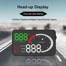 Автомобильный светодиодный экран, сигнализация о превышении скорости, Предупреждение, спидометр, OBD2, дисплей, аксессуары, лобовое стекло, проектор, ABS, автомобильный Hud HD
