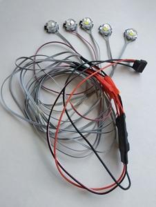Image 5 - 1 סט RC מטוסי 5W מהבהב בהיר אור ניווט LED מנורות פיצוץ מהבהב 2s 3s 4S 5S 6s בקר חלקים עבור FPV