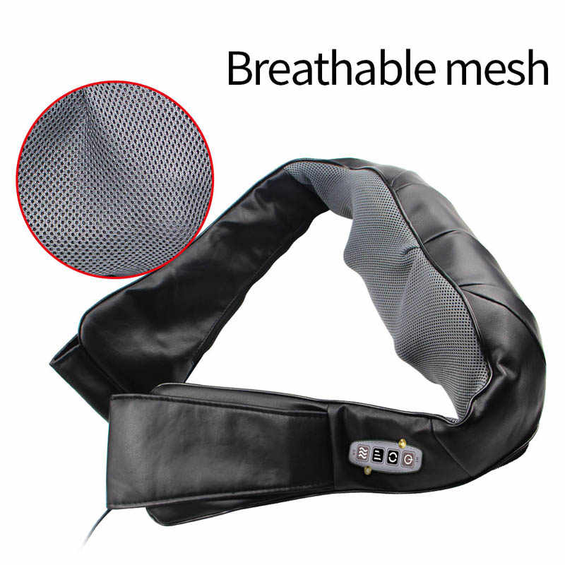 Hause Auto Elektrische Körper Neck Massager Zurück Entspannung Massagem U Form Schulter Shiatsu Infrarot beheizten 3D Kneten Schal gürtel